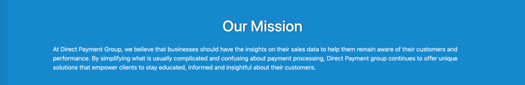 Direct Payment Group Mission